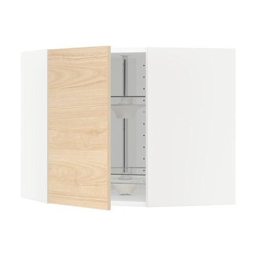 metod bovenhoekkast met carrousel wit askersund licht essenpatroon 68x60 cm ikea. Black Bedroom Furniture Sets. Home Design Ideas