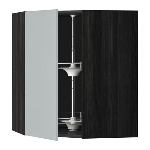 metod bovenhoekkast met carrousel houteffect zwart veddinge grijs 68x80 cm ikea. Black Bedroom Furniture Sets. Home Design Ideas