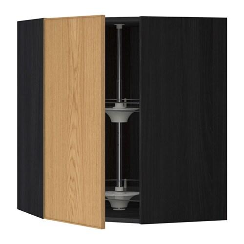 metod bovenhoekkast met carrousel houteffect zwart ekestad eiken 68x80 cm ikea. Black Bedroom Furniture Sets. Home Design Ideas
