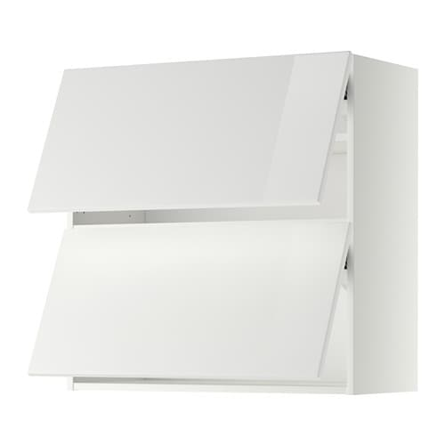 metod bovenkast horizontaal met 2 deuren wit ringhult hoogglans wit 80x80 cm ikea. Black Bedroom Furniture Sets. Home Design Ideas