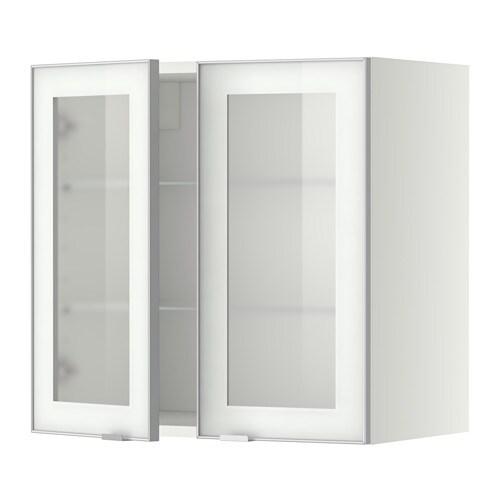 Metod bovenkast m planken 2 vitrinedeuren wit jutis - Mobile alto e stretto ikea ...