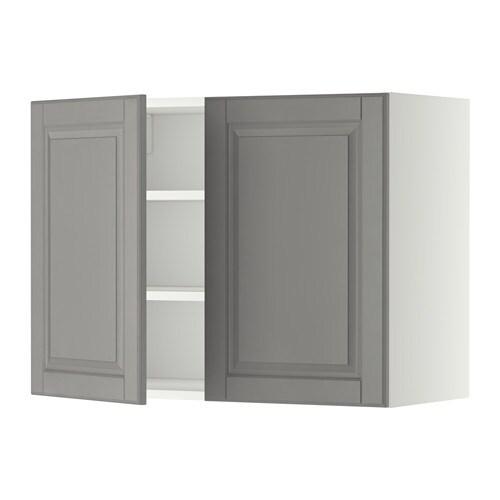 METOD Bovenkast met planken/2 deuren - wit, Veddinge wit, 80x80 cm ...