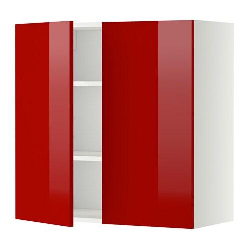 Keuken Rood Ikea : 2 Door Wall Cabinet with Shelves