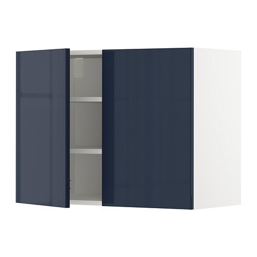 metod bovenkast met planken2 deuren wit veddinge wit 80x80 cm ikea