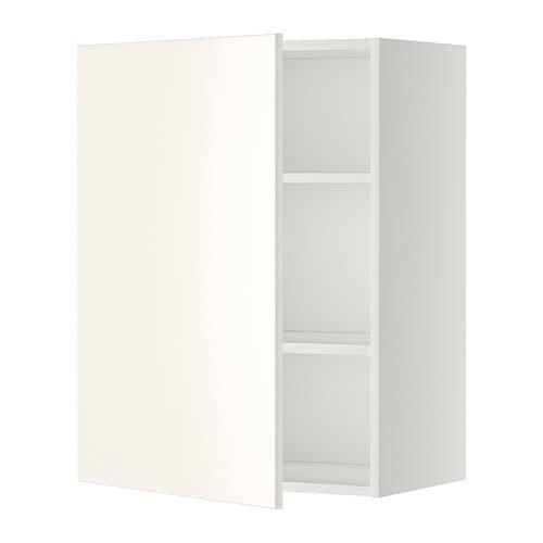 metod bovenkast met planken - wit, veddinge wit, 60x80 cm - ikea, Badkamer