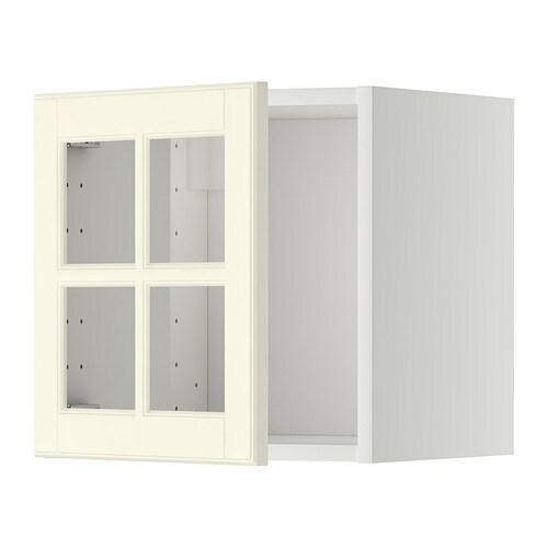 METOD Bovenkast met vitrinedeur IKEA Het deurtje kan links of rechts ...