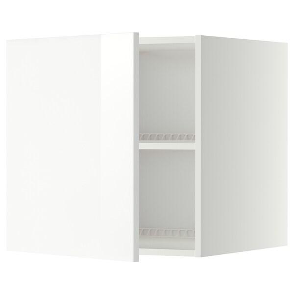 METOD Bovenkast voor koelkast/vriezer, wit/Ringhult wit, 60x60 cm