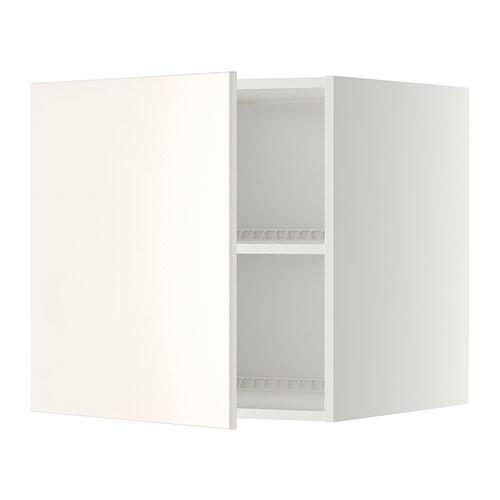 METOD Bovenkast voor koelkast/vriezer - wit, Veddinge wit ...