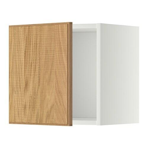 Metod bovenkast wit hyttan eikenfineer 40x40 cm ikea for Meuble 40x40