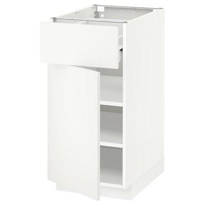 METOD / FÖRVARA onderkast met lade/deur wit/Häggeby wit 40.0 cm 61.6 cm 88.0 cm 60.0 cm 80.0 cm