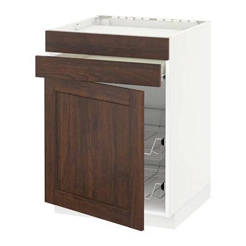 metod f rvara onderkast kookplaat la 2 draadmand wit edserum houteffect bruin ikea. Black Bedroom Furniture Sets. Home Design Ideas