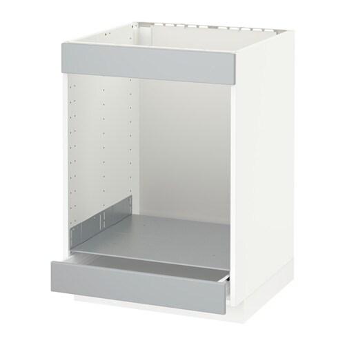 metod f rvara onderkast kookplaat oven m la wit veddinge grijs ikea. Black Bedroom Furniture Sets. Home Design Ideas