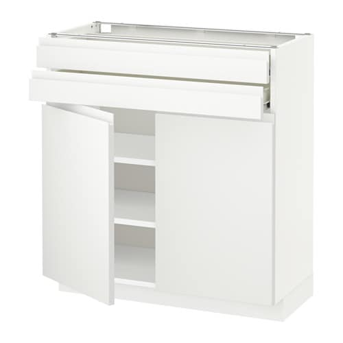 Hoogte Ikea Keuken Metod : Office Base Cabinets 2 Drawer White