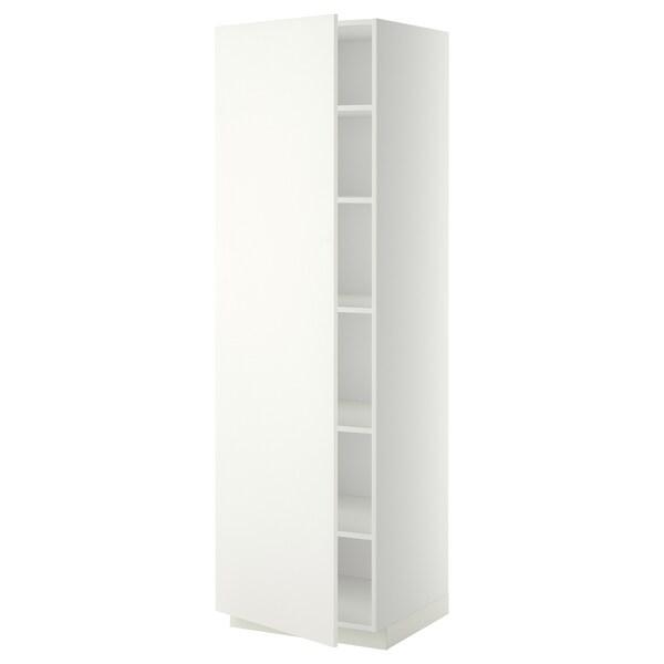 METOD hoge kast met planken wit/Häggeby wit 60.0 cm 61.6 cm 208.0 cm 60.0 cm 200.0 cm