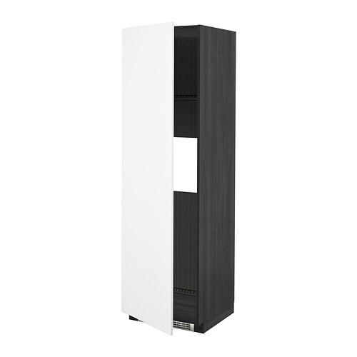 Computer Hoekkast Ikea.Metod Hoge Kast Koelkast Of Vriezer Deur Houteffect Zwart