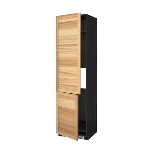 METOD Hoge kast koelkast/vriezer&2 deuren - houteffect ... Java Deuren