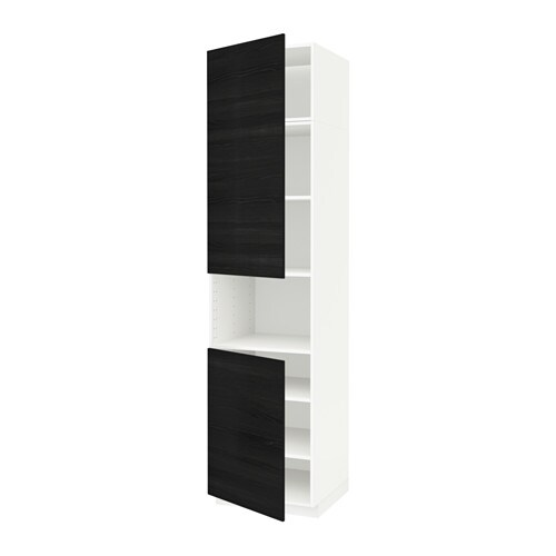 pre-order officiële site laatst METOD Hoge kast magn m 2deur/plank, wit, Tingsryd zwart