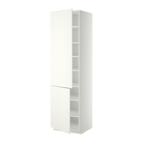metod hoge kast met planken 2 deuren wit h ggeby wit. Black Bedroom Furniture Sets. Home Design Ideas