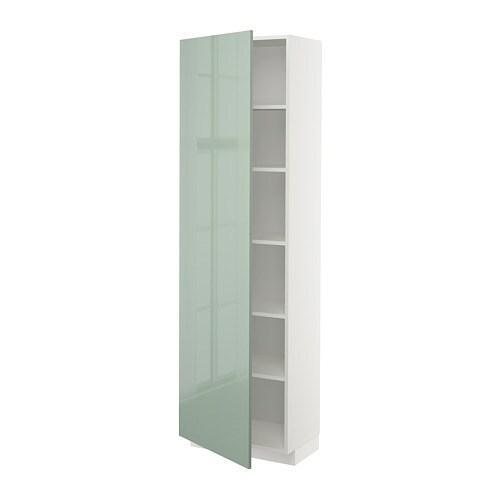 Grote Kast Met Legplanken.Metod Hoge Kast Met Planken Wit Veddinge Wit 60x60x200 Cm Ikea