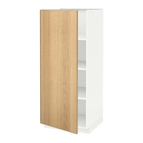 Kast Met Alleen Legplanken.Metod Hoge Kast Met Planken Wit Ekestad Eiken Ikea