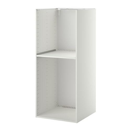 metod hoog kastelement koelkast oven 60x60x140 cm wit ikea. Black Bedroom Furniture Sets. Home Design Ideas