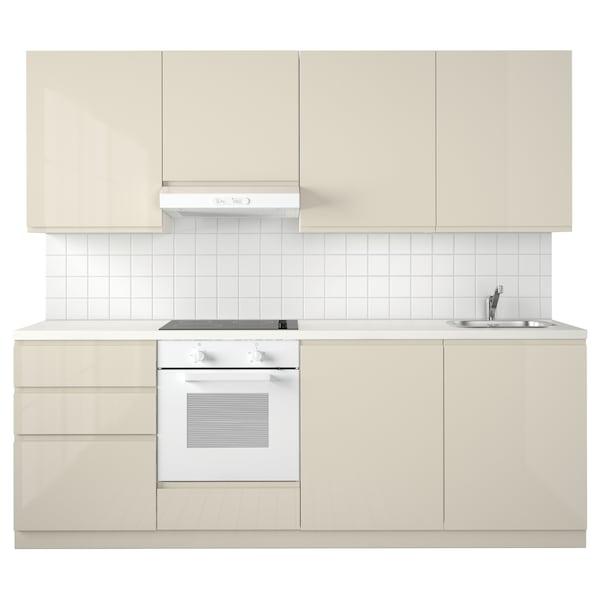Metod Keuken Wit Maximera Voxtorp Hoogglans Lichtbeige 240x60x228 Cm Ikea