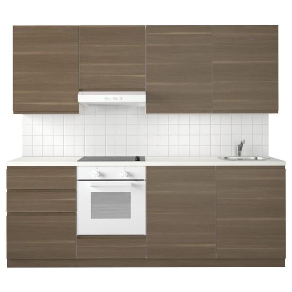 METOD keuken wit Maximera/Voxtorp walnoot 240 cm 60 cm 228 cm
