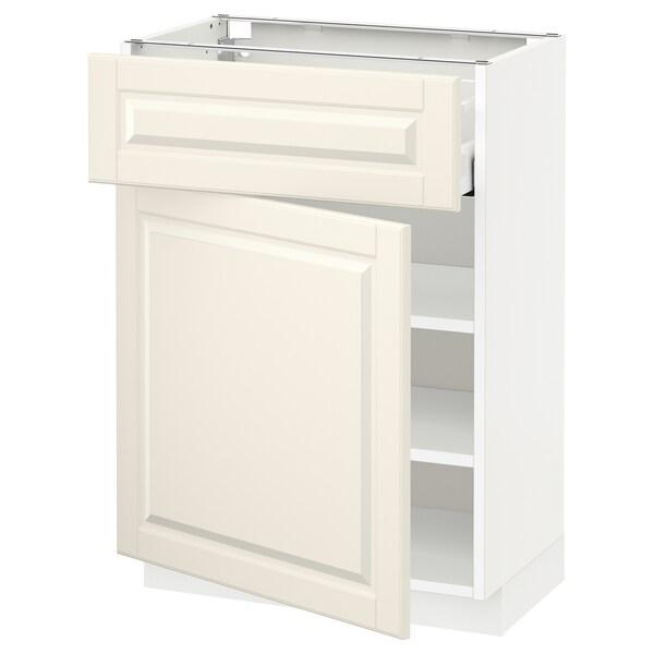 METOD / MAXIMERA onderkast met lade/deur wit/Bodbyn ecru 60.0 cm 39.5 cm 88.0 cm 37.0 cm 80.0 cm