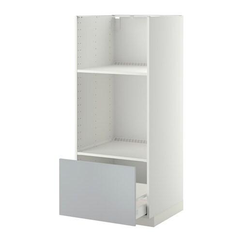 metod maximera hoge kast oven magn met lade wit veddinge grijs ikea. Black Bedroom Furniture Sets. Home Design Ideas