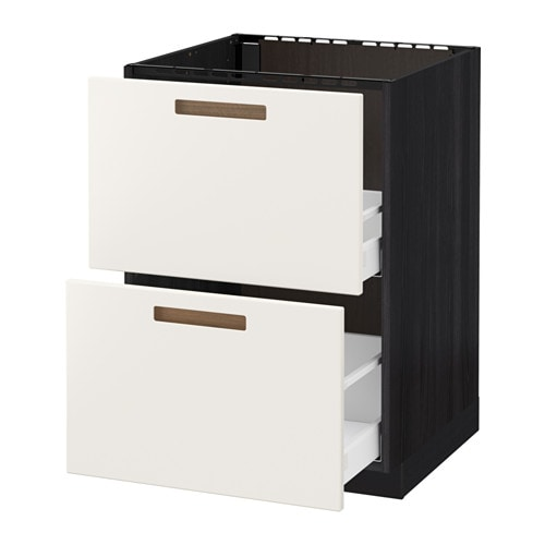 Hoogte Ikea Keuken Metod : Black Drawer Fronts