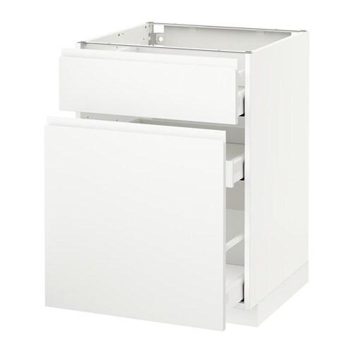 Metod maximera onderkast uittrekb opbergrek lade wit for Meuble 60x60