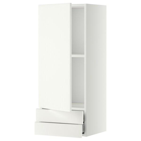 METOD / MAXIMERA bovenkast m deur/2 lades wit/Häggeby wit 40.0 cm 38.6 cm 100.0 cm