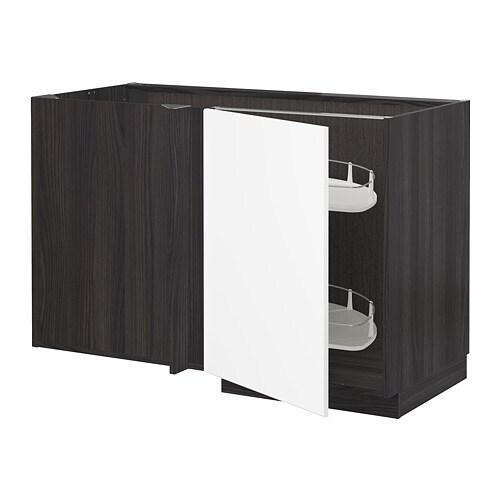 Ikea Computer Hoekkast.Metod Onderhoekkast M Uittrekb Inrichting Houteffect Zwart