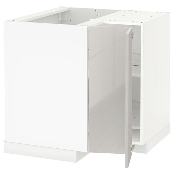 Metod Onderhoekkast Met Carrousel Wit Ringhult Lichtgrijs 88x88 Cm Ikea