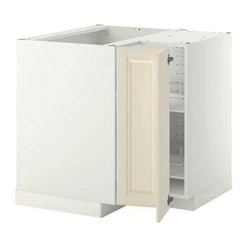 metod onderhoekkast met carrousel wit bodbyn ecru ikea. Black Bedroom Furniture Sets. Home Design Ideas