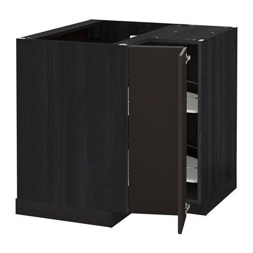 metod onderhoekkast met carrousel houteffect zwart kungsbacka antraciet ikea. Black Bedroom Furniture Sets. Home Design Ideas