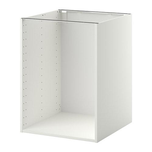 METOD Onderkast basiselement - wit, 60x60x80 cm - IKEA