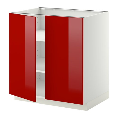 Keuken Rood Ikea : Red Kitchen White Cabinets with Doors