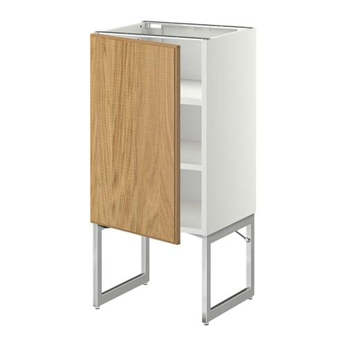 METOD Onderkast met planken   wit, Hyttan eikenfineer, 40x37x60 cm   IKEA