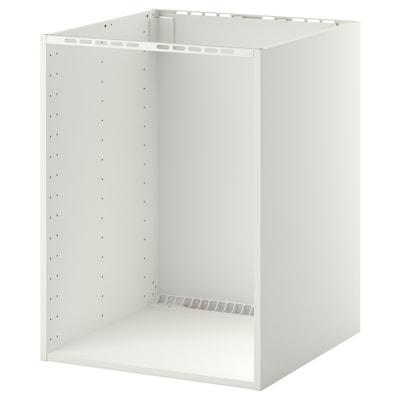 METOD Onderkast voor inbouwoven/spoelbak, wit, 60x60x80 cm
