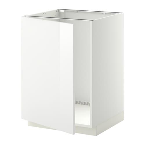 METOD Onderkast voor spoelbak - wit, Ringhult hoogglans wit - IKEA