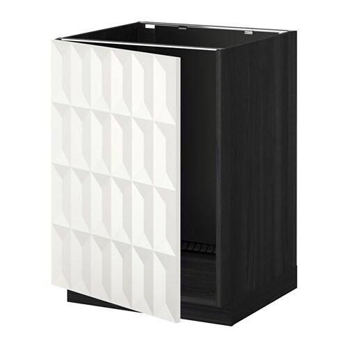 metod onderkast voor spoelbak houteffect zwart herrestad wit ikea. Black Bedroom Furniture Sets. Home Design Ideas