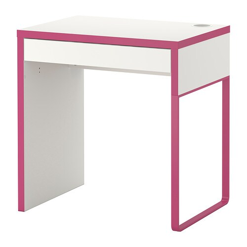 micke bureau wit roze ikea. Black Bedroom Furniture Sets. Home Design Ideas