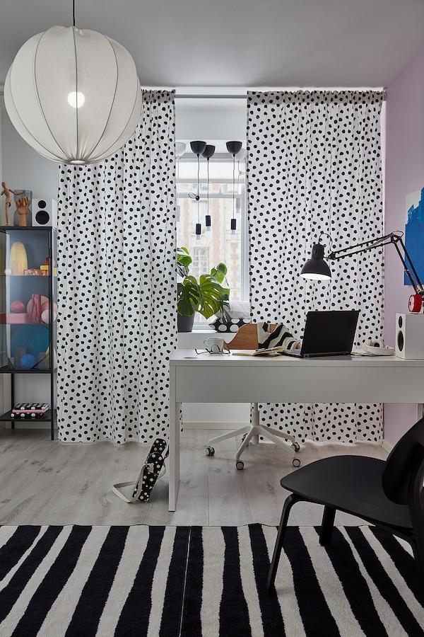 MICKE Bureau, wit, 142x50 cm