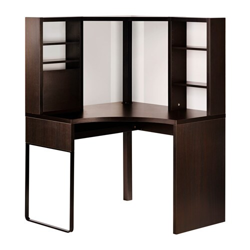 micke hoekbureau zwartbruin 100x141 cm ikea. Black Bedroom Furniture Sets. Home Design Ideas