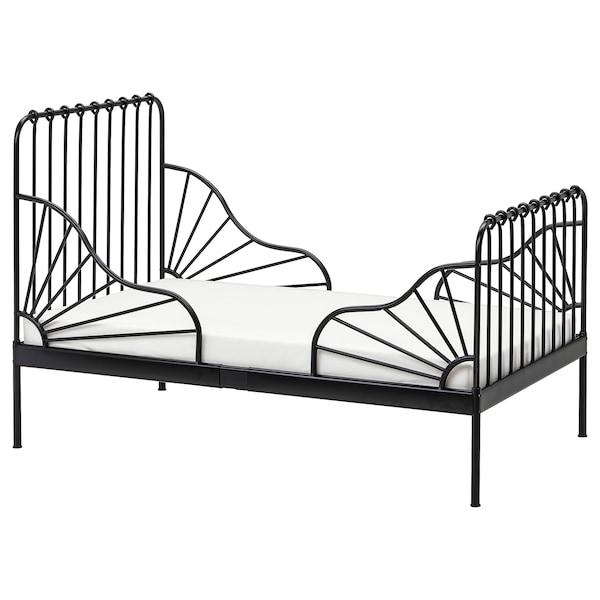 MINNEN Meegroeibed, zwart, 80x200 cm