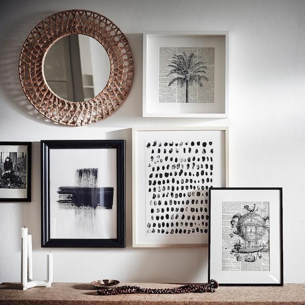 MISSVEDEN Spiegel, rotan, 50 cm
