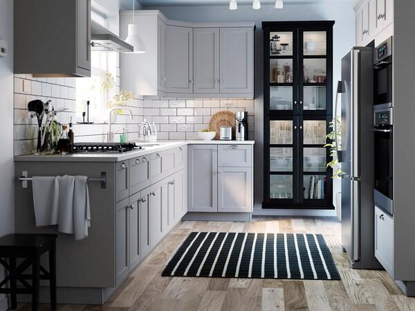MITTLED Led-strip voor keukenwerkblad, dimbaar aluminiumkleur, 60 cm