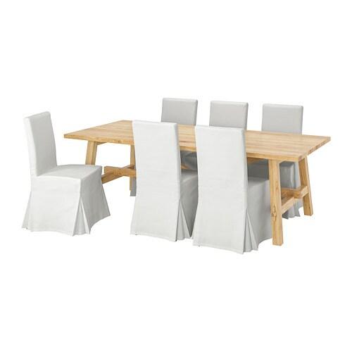 Bartafel Incl Stoelen.Mockelby Henriksdal Tafel Met 6 Stoelen Ikea