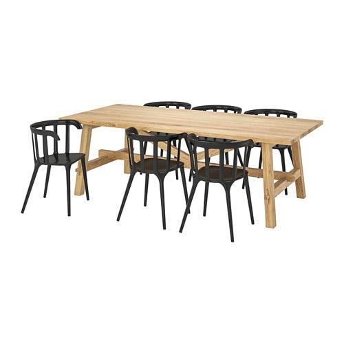 6 Eetkamerstoelen En Tafel.Mockelby Ikea Ps 2012 Tafel Met 6 Stoelen Ikea
